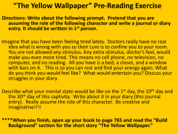 the yellow discussion q`s and essay q`s the yellow