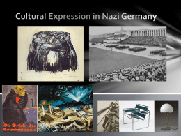 Cultural Expression - Nazi Germany - vcehistory