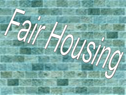 Fair Housing and Structural Inequality