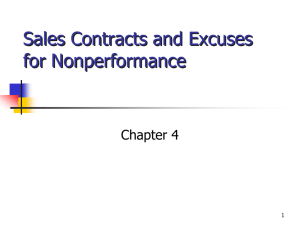 Chapter 4 Sales Contracts