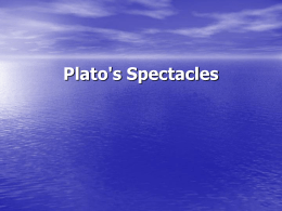 Plato's Spectacles