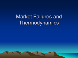 Market Failures and Thermodynamics