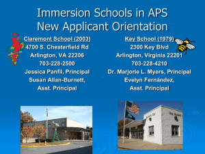 Immersion - Arlington Public Schools