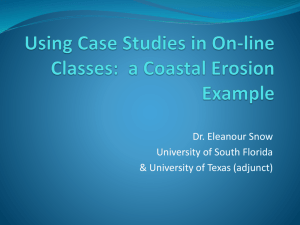 Using Case Studies in On-line Classes: a Coastal