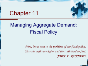 Chapter 11 - Managing Aggregate Demand