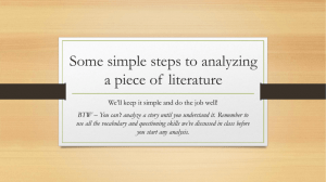 One simple way to analyze a piece of literature