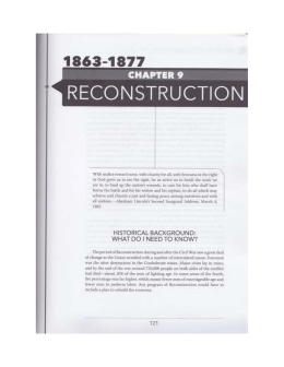 First Reconstruction Act - Fredericksburg City Public Schools