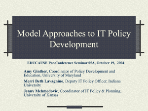 Model Approaches to IT Policy Development