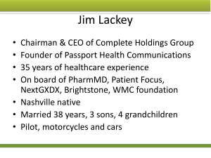 Jim Lackey May 2015 First Friday Presentation – It's All About The