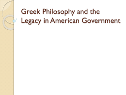 an analysis of the greek political philosophy and scientific discoveries in humanities John r pottenger, phd professor, chair, political science by courtesy, philosophy biography dr john pottenger has been a national endowment for the humanities research fellow at ucla and.