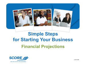 WS4 - Financial Projections - Manasota Training