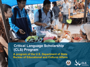 Critical Language Scholarship powerpoint