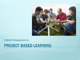 Project-Based Learning Doc