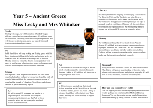 Year 5 – Ancient Greece