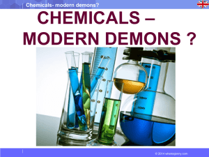 CHEMICALS – MODERN DEMONS