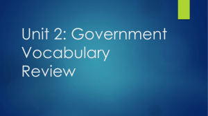 Unit 2: Government Vocabulary Review