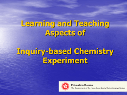 Learning and teaching aspects of inquiry