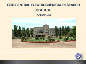 Title of Presentation - Central Electrochemical Research Institute