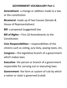 Government definitions 1