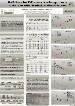 Poster (A0 ) - Artificial Intelligence On Nuclear Physics