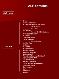 Powerpoint - Animal Liberation Front
