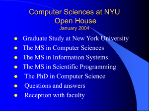 Agenda - NYU Computer Science Department