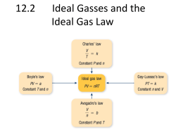 12.2 Ideal Gasses and the Ideal Gas Law