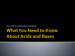 What You Need to Know About Acids and Bases