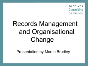 Records Management and Organisational Change
