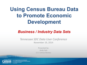 Using Census Bureau Data to Promote Economic Development