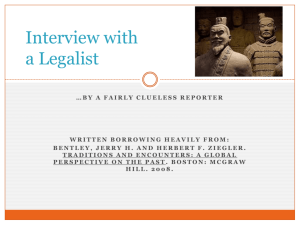 Interview with a Legalist