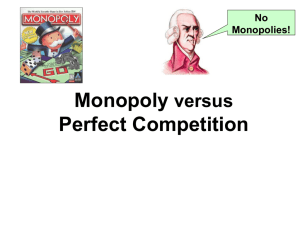 Monopoly & Pefect Competition