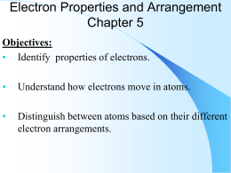 electron properties and arrangement power points