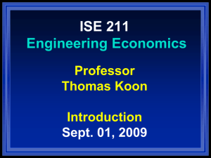 ISE211 Chapter One
