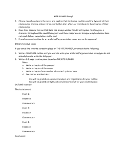 Kite Runner Essay Prompts and Guidelines