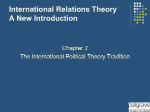 The International Political Theory Tradition Chapter 2 Powerpoint
