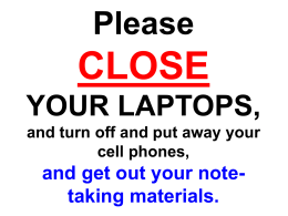 Please open your laptops, log in to the MyMathLab course web site