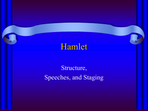 Hamlet structure, speeches, and staging Acts 3 and 4