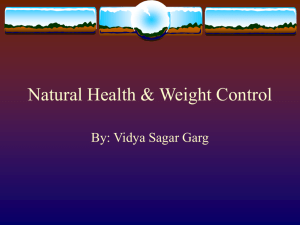 Natural Health & Weight Loss