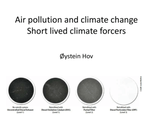 Air pollution and climate change. Short lived climateforcers