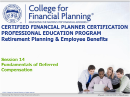 Funded - College for Financial Planning