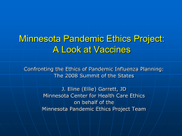 Pandemic Ethics Project
