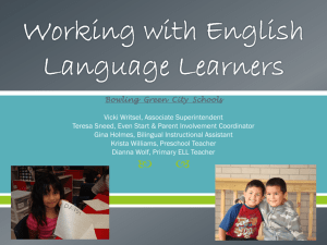 English Language Learners - Bowling Green City Schools