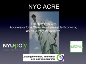 NYC ACRE (NYU-Poly) - Business Incubator Association of New