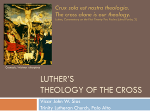 Luther's theology of the cross