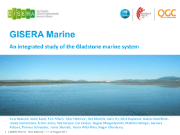 An integrated study of the Gladstone marine system