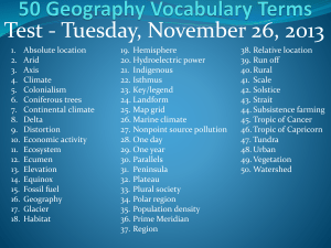 50 Geography Vocabulary Terms
