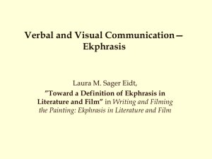 Verbal and Visual Communication—Ekphrasis
