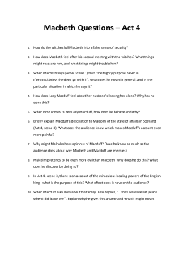 macbeth discussion questions act iv rh studylib net Romeo and Juliet Act 2 Scene 2 Macbeth Act 1 Scene 2