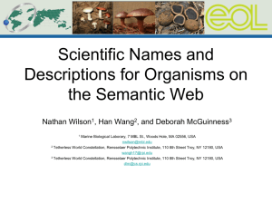 Semantic Vernacular for Fungi - Tetherless World Constellation